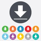 Download icon. Upload button. Stock Photo