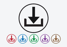 Download icon and Upload symbol button Royalty Free Stock Photo