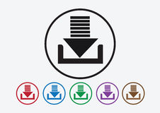 Download icon and Upload symbol button Stock Photos