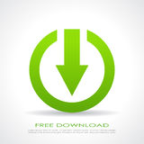 Download icon. Vector clip art Royalty Free Stock Photo