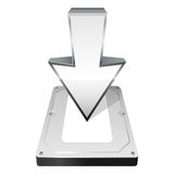 Download icon. Vector illustration. Download icon with arrow. Vector illustration Stock Illustration