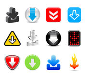 Download icons Stock Photography