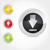 Download Icons. Download icon buttons, vector illustration. (More from the series in portfolio Royalty Free Stock Images