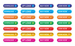 Download icons. Illustration of download icons collection Stock Photography