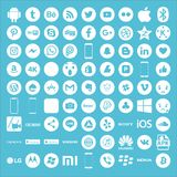 Icons for Social Media Victor royalty free illustration