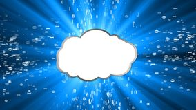 Download the informative cloud. Download concept. stock video footage