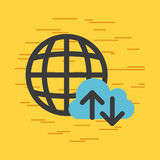 Download internet files. Icon vecrtor illustration design graphic Stock Photo