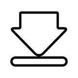 Download from internet isolated icon. Stock Image