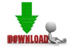 Download-Konzept des Mann-3d Stockbilder