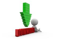 Download-Konzept des Mann-3d Lizenzfreies Stockbild