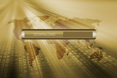 Download loading bar Royalty Free Stock Images