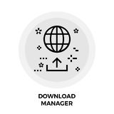 Download Manager Line Icon Royalty Free Stock Image