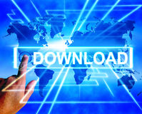 Download Map Displays Downloads Downloading and Information Tran Stock Photos