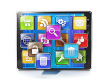 Download mobile app for your aypad. Icons in the form of mobile Royalty Free Stock Image