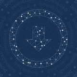 Download network symbol. Alive constellation style symbol. Appealing network style. Modern design. Download symbol for infographics or presentation Royalty Free Stock Photography