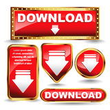 Download now button collection. Stock Photography