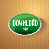Download now button. Royalty Free Stock Photo