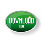 Download now button. Royalty Free Stock Images