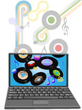 Download oldies music to laptop computer Royalty Free Stock Photo