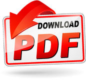 Download pdf design icon. Illustration of red download pdf design icon stock illustration