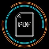 Download PDF document icon - vector file format symbol royalty free illustration