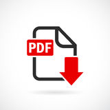 Download pdf file vector icon. Illustration Stock Photos
