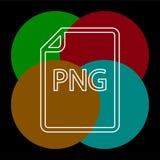 Download PNG document icon - vector file format. Symbol. Thin line pictogram - outline editable stroke vector illustration