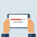 Download process, tablet Royalty Free Stock Photography