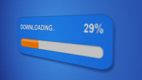 Download progress bar close-up Stock Photo