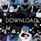 Download Sharing NEtwork Internet Information Concept Royalty Free Stock Photography
