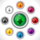 Download Shiny Colorful Button Stock Images
