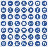 Download Social media icons Vector. Logos Social Networks Transparent blue Facebook Twitter Android iPhone YouTube royalty free illustration