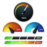 Download speedometers vector set Stock Image