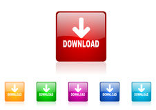 Download square web glossy icon Royalty Free Stock Photography