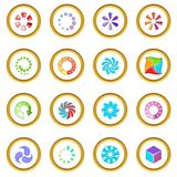 Download status icons circle Royalty Free Stock Photography