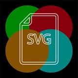 Download SVG document icon - vector file format. Symbol. Thin line pictogram - outline editable stroke royalty free illustration