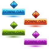 Download-Taste stock abbildung