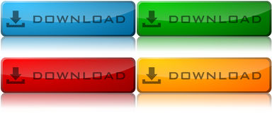 Download-Tasten Lizenzfreie Stockbilder