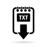Download text file icon Royalty Free Stock Images