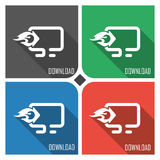 Download traffic flat vector icon on colorful background. simple PC web icons eps8. Stock Photos