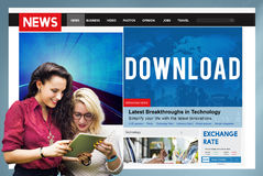 Download Transfer Internet Online Technology Networking Concept Stock Photos