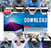 Download Transfer Internet Online Technology Networking Concept Stock Photo