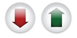 Download- und Antriebskrafttasten stock abbildung