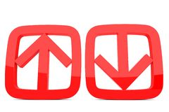 Download and upload arrow sign Stock Photo