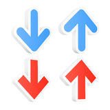 Download and upload arrows. Royalty Free Stock Photo