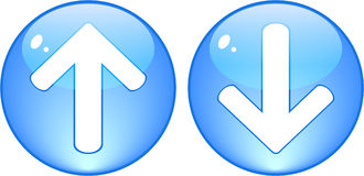 Download and upload blue buttons Stock Image
