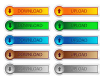 Download and upload button Royalty Free Stock Photos