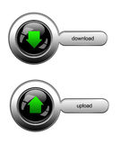 Download and upload button set for web site Royalty Free Stock Photo