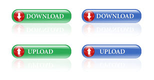 Download upload buttons Royalty Free Stock Photos