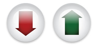 Download and upload buttons stock illustration